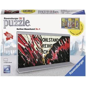 "Ravensburger (12576) - ""Berlin Wall Art No. 4"" - 108 pieces puzzle"