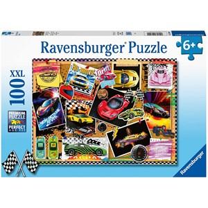 """Ravensburger (12899) - """"Race Cars"""" - 100 pieces puzzle"""