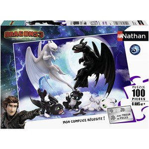 """Nathan (86767) - """"Dragons"""" - 100 pieces puzzle"""
