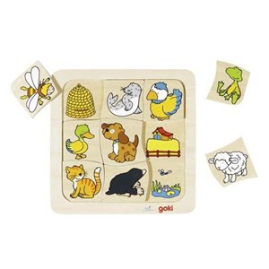 """Goki (56881) - """"Who Lives Where"""" - 9 pieces puzzle"""