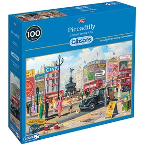 "Gibsons (G6256) - Derek Roberts: ""Piccadilly"" - 1000 pieces puzzle"