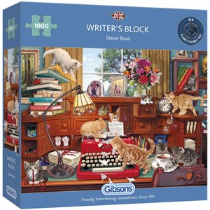 "Gibsons (G6290) - Steve Read: ""Writer's Block"" - 1000 pieces puzzle"