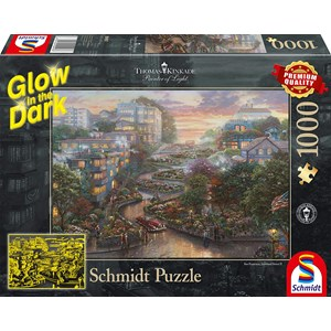 """Schmidt Spiele (59497) - """"San Francisco, Lombard Street"""" - 1000 pieces puzzle"""