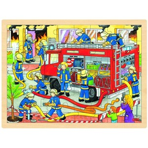 "Goki (57527) - ""Firefighting"" - 48 pieces puzzle"