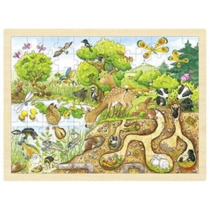 "Goki (57582) - ""Exploring Nature"" - 96 pieces puzzle"