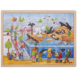 "Goki (57744) - ""Visit at The Zoo"" - 48 pieces puzzle"