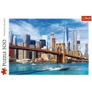 "Trefl (37331) - ""View of New York"" - 500 pieces puzzle"