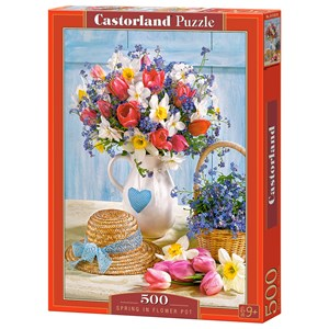 """Castorland (B-53520) - """"Spring in Flower Pot"""" - 500 pieces puzzle"""