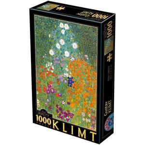 """D-Toys (66923-9) - Gustav Klimt: """"Farm Garden"""" - 1000 pieces puzzle"""