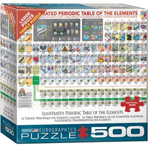 """Eurographics (6500-5355) - """"Illustrated Periodic Table of The Elements"""" - 500 pieces puzzle"""