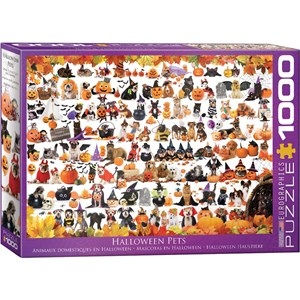 """Eurographics (6000-5416) - """"Halloween Puppies and Kittens"""" - 1000 pieces puzzle"""