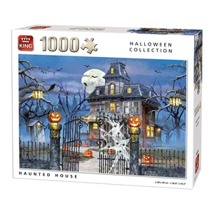 "King International (05723) - ""Halloween Haunted House"" - 1000 pieces puzzle"