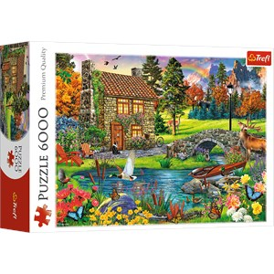 """Trefl (65006) - """"Cottage in the Mountains"""" - 6000 pieces puzzle"""