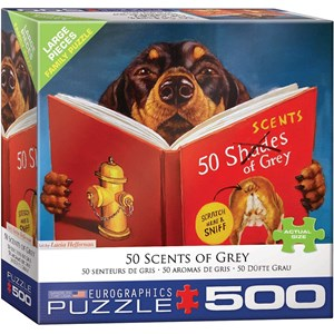 """Eurographics (8500-5451) - Lucia Heffernan: """"50 Scents of Grey"""" - 500 pieces puzzle"""