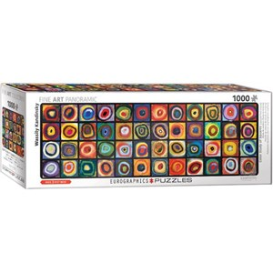 "Eurographics (6010-5443) - Vassily Kandinsky: ""Color Square"" - 1000 pieces puzzle"