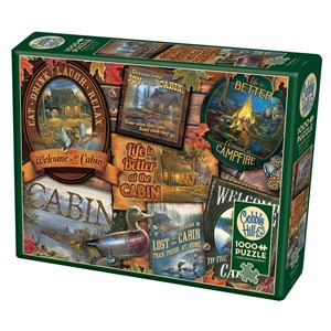 "Cobble Hill (80040) - Sam Timm: ""Cabin Signs"" - 1000 pieces puzzle"