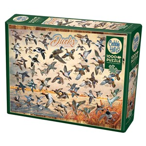 "Cobble Hill (80263) - David A. Maass: ""Ducks of North America"" - 1000 pieces puzzle"