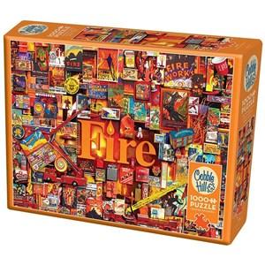 "Cobble Hill (80173) - Shelley Davies: ""Fire"" - 1000 pieces puzzle"