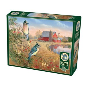 "Cobble Hill (80189) - Sam Timm: ""Cedar Waxwings"" - 1000 pieces puzzle"