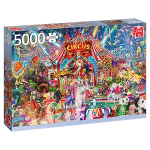 "Jumbo (18871) - Aimee Stewart: ""A Night at the Circus"" - 5000 pieces puzzle"