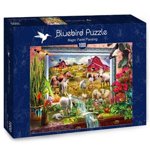 "Bluebird Puzzle (70029) - Jan Patrik Krasny: ""Magic Farm Painting"" - 1000 pieces puzzle"