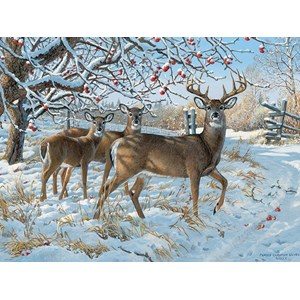 """Cobble Hill (57196) - Persis Clayton Weirs: """"Winter Deer"""" - 1000 pieces puzzle"""