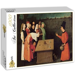 "Grafika (01164) - Jerome Bosch: ""Bosch: The Conjurer, 1502"" - 1000 pieces puzzle"
