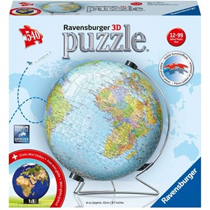 "Ravensburger (11159) - ""Globe (in German)"" - 540 pieces puzzle"