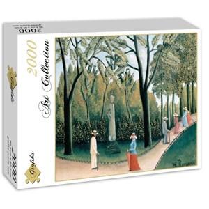 """Grafika (00503) - Henri Rousseau: """"Le Jardin du Luxembourg, 1909"""" - 2000 pieces puzzle"""