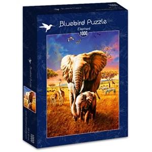 "Bluebird Puzzle (70314) - Adrian Chesterman: ""Elephant"" - 1000 pieces puzzle"