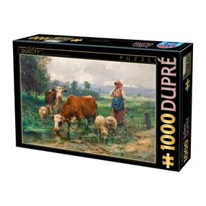 "D-Toys (74164) - Julien Dupre: ""A Shepherdess with her Flock"" - 1000 pieces puzzle"