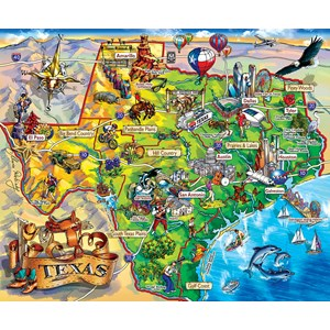 "SunsOut (20516) - Maria Rabinsky: ""Texas!!!"" - 1000 pieces puzzle"