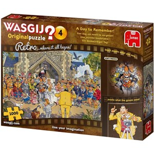 "Jumbo (19176) - ""Wasgij Retro Original 4, Day to Remember"" - 1000 pieces puzzle"