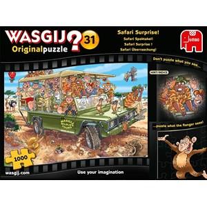 """Jumbo (19164) - """"Wasgij Original 31, Safari Surprise"""" - 1000 pieces puzzle"""