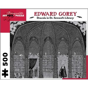 """Pomegranate (AA711) - Edward Gorey: """"Dracula in Dr. Seward's Library"""" - 500 pieces puzzle"""