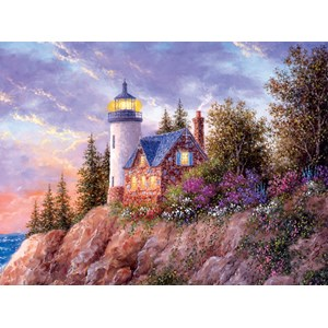 """SunsOut (48396) - Dennis Lewan: """"Beacon to the Sea"""" - 1000 pieces puzzle"""