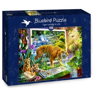 "Bluebird Puzzle (70200) - Jan Patrik Krasny: ""Tiger coming to Life"" - 1500 pieces puzzle"