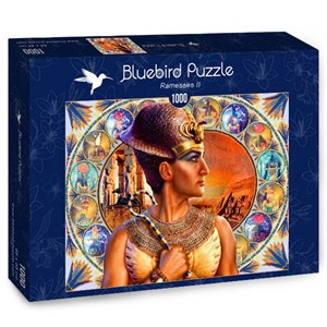 """Bluebird Puzzle (70176) - Andrew Farley: """"Ramesses II"""" - 1000 pieces puzzle"""