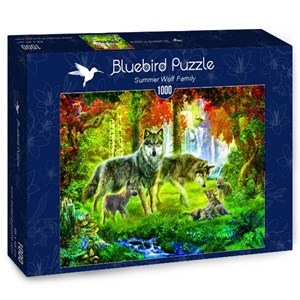"Bluebird Puzzle (70156) - Jan Patrik Krasny: ""Summer Wolf Family"" - 1000 pieces puzzle"