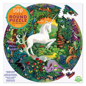"""eeBoo (EPZFUNG) - """"Unicorn Garden"""" - 500 pieces puzzle"""