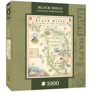 "MasterPieces (71798) - ""Black Hills Map"" - 1000 pieces puzzle"