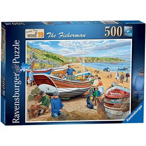 "Ravensburger (16414) - Trevor Mitchell: ""Happy Days at Work"" - 500 pieces puzzle"