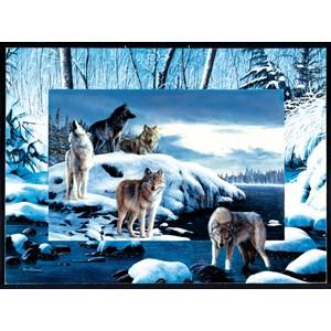 """SunsOut (55763) - Kevin Daniel: """"Ice Wolves"""" - 1000 pieces puzzle"""