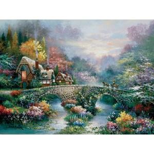 """SunsOut (18030) - James Lee: """"Peaceful Cottage"""" - 1000 pieces puzzle"""