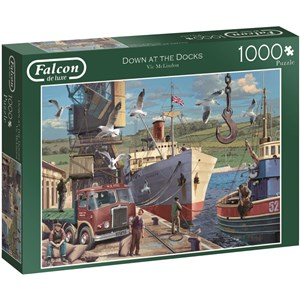 "Jumbo (11178) - Vic McLindon: ""Down the docks"" - 1000 pieces puzzle"