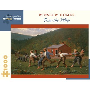 "Pomegranate (aa1066) - Winslow Homer: ""Snap the Whip, 1872"" - 1000 pieces puzzle"