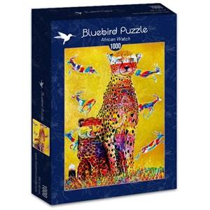"""Bluebird Puzzle (70301) - Graeme Stevenson: """"African Watch"""" - 1000 pieces puzzle"""