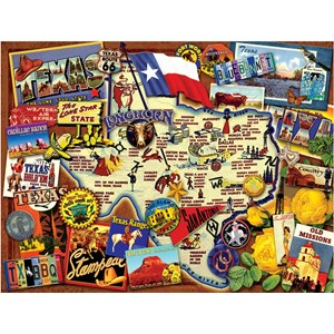 """SunsOut (70024) - Kate Ward Thacker: """"Texas, The Lone Star State"""" - 500 pieces puzzle"""