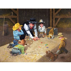 """SunsOut (36013) - Don Crook: """"Only Game in Town"""" - 500 pieces puzzle"""