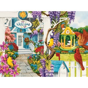 "SunsOut (62939) - Nancy Wernersbach: ""Wisteria Cottage"" - 1000 pieces puzzle"